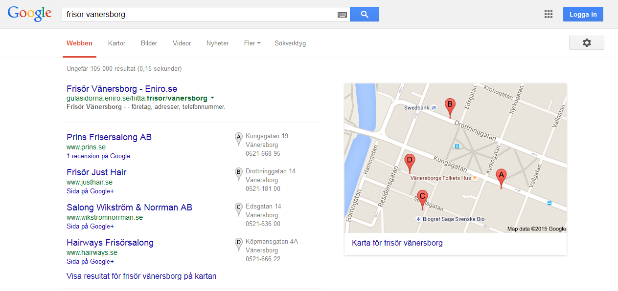 Frisör Vänersborg Google sökresultat